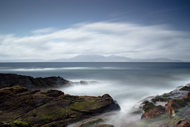 Rugged-Coastline,-Portencross,-Scotland