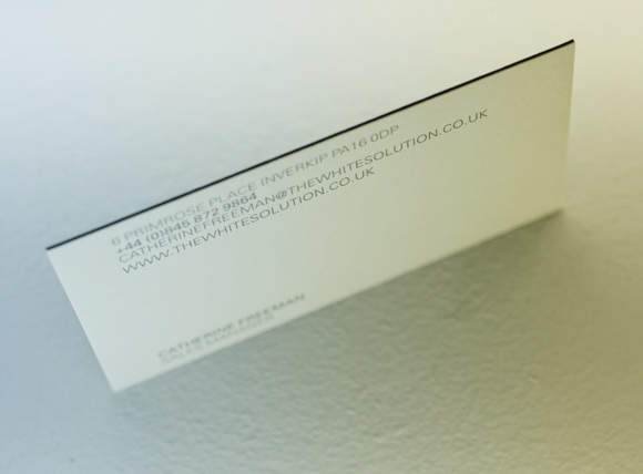 The White Solution Business Card