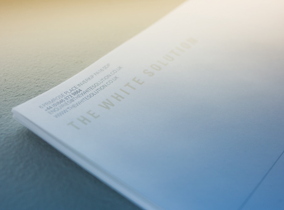 The White Solution Letterhead