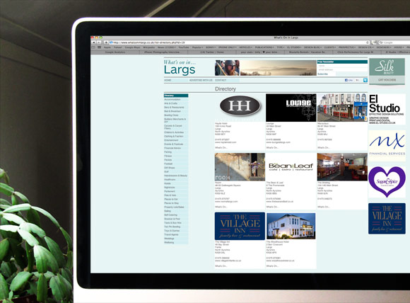 Whats on in Largs. Business & Event Directory