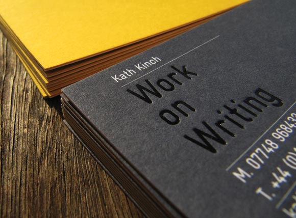 Work on Writing - Business Cards, Notebook, Postcards, Exhibition, Posters